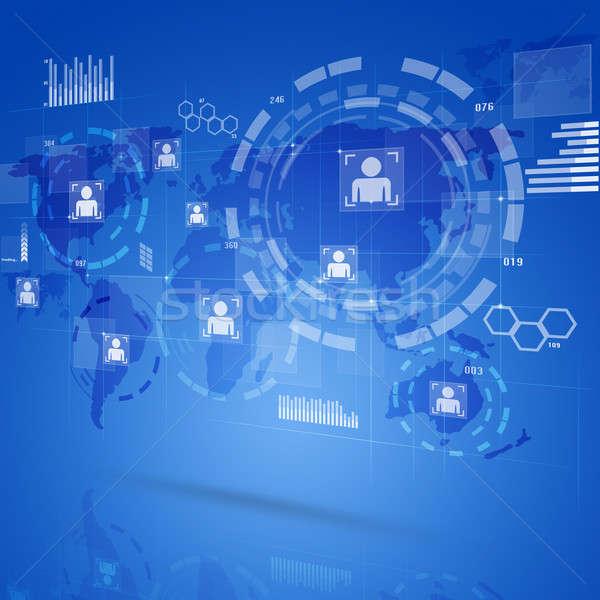 デジタル技術 インターフェース デジタル グローバル ウェブ ストックフォト © alexaldo