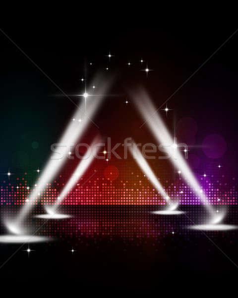 Disco stade résumé musique fête événements Photo stock © alexaldo