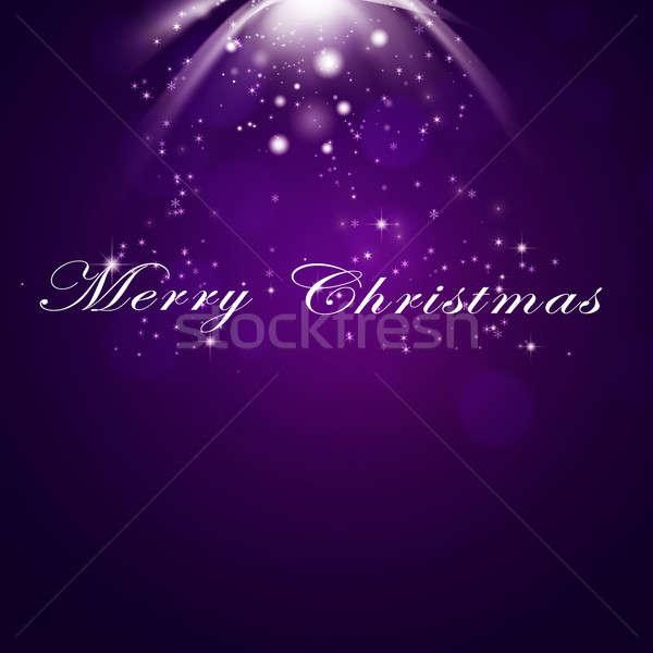 Vrolijk christmas groet tekst ny Stockfoto © alexaldo