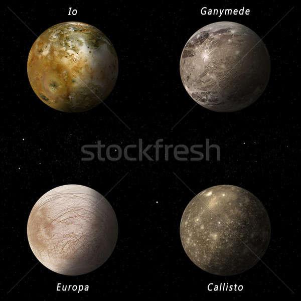 Jupiter Moons Stock photo © alexaldo