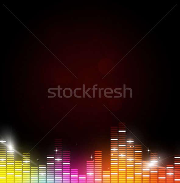 Zene absztrakt hangszínszabályozó csillagok buli fény Stock fotó © alexaldo
