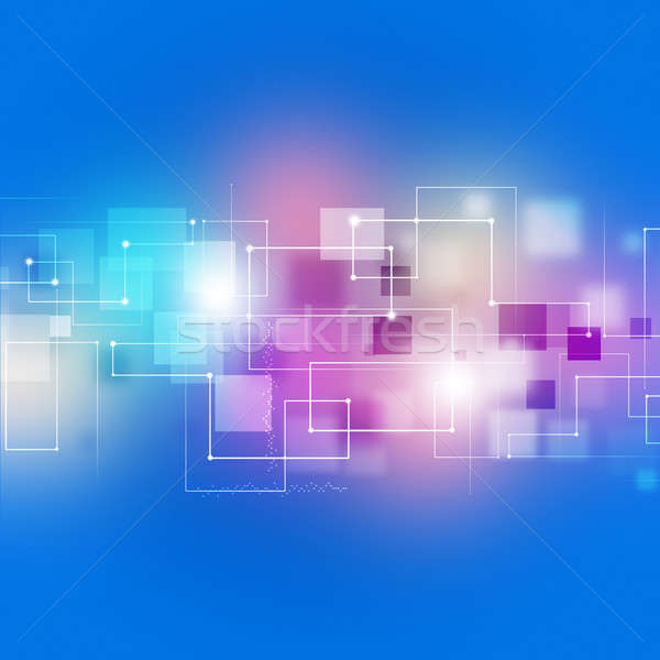 Abstract Connections Multicolor Technology Background Stock photo © alexaldo