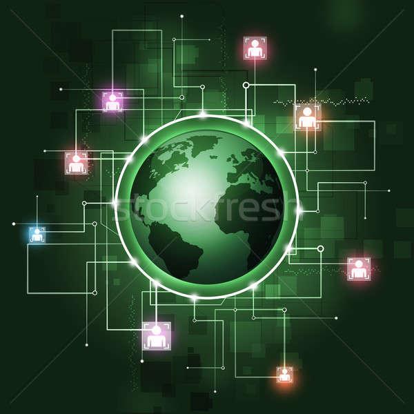 グローバル通信 抽象的な 通信 技術 暗い ビジネス ストックフォト © alexaldo