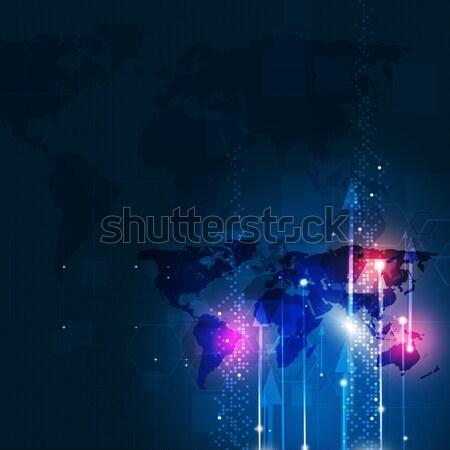Network Blue Biz Background Stock photo © alexaldo