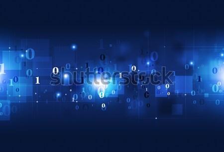 Bináris kód absztrakt technológia kommunikáció kék biztonság Stock fotó © alexaldo