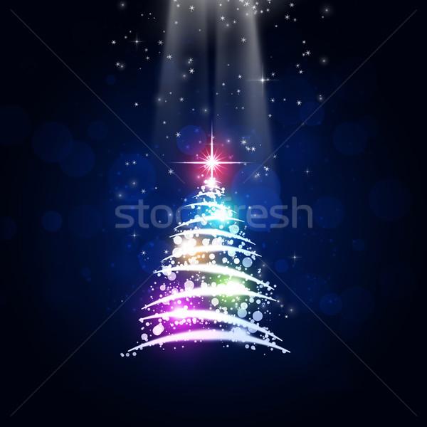 рождество праздник дерево аннотация Рождества Новый год Сток-фото © alexaldo