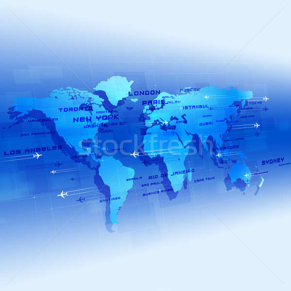 Global Aviation Blue Background Stock photo © alexaldo