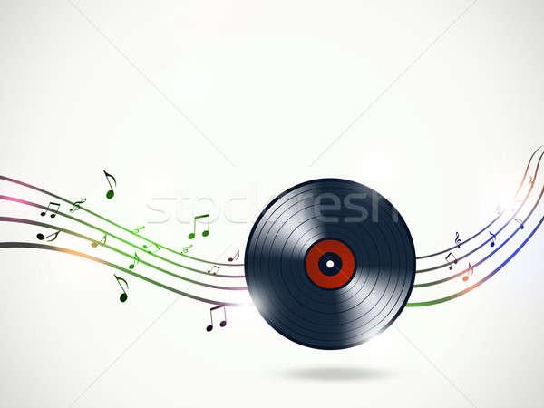 Foto stock: Funky · notas · musicales · resumen · música · luces