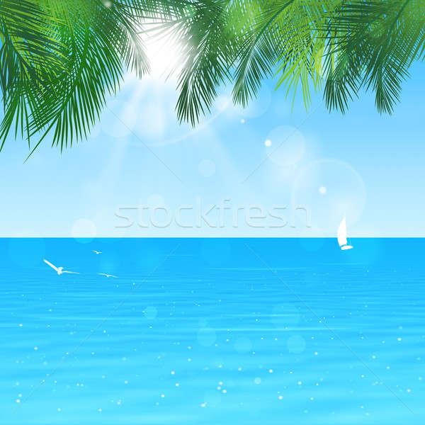 édenkert gyönyörű kilátás nyugalom trópusi óceán Stock fotó © alexaldo