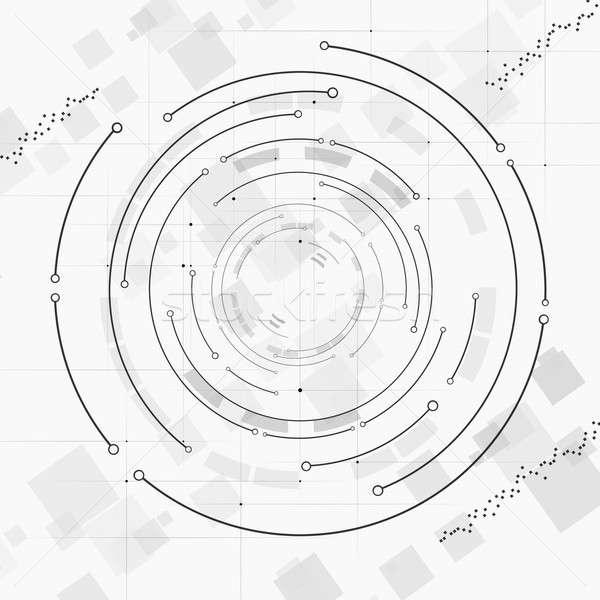Abstract Technology Circle Stock photo © alexaldo