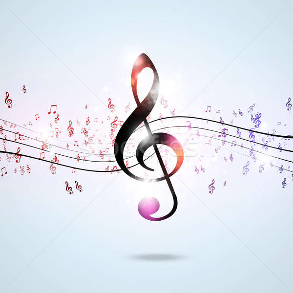 Funky Multicolor Music Notes Stock photo © alexaldo