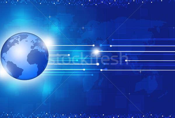 аннотация глобальный синий технологий цифровой Сток-фото © alexaldo