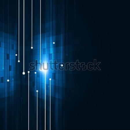 аннотация связи синий связи технологий геометрический Сток-фото © alexaldo