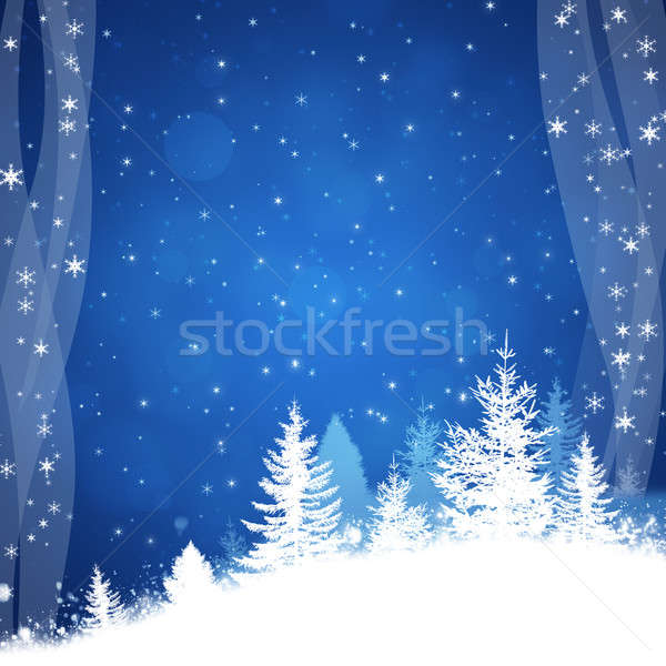 Stockfoto: Winter · verrukkelijk · Blauw · christmas · nieuwjaar · viering
