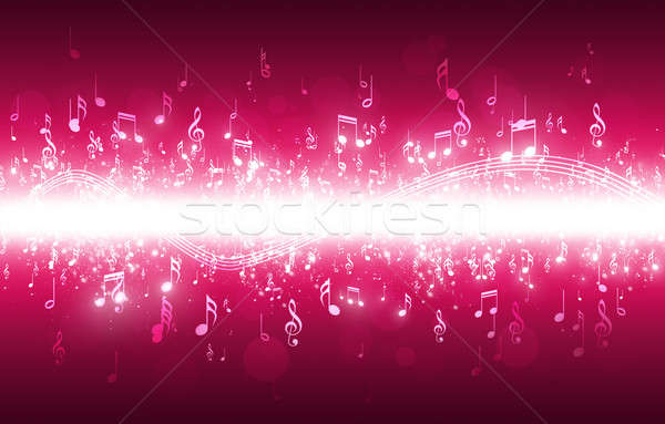 Music Notes Background Stock photo © alexaldo