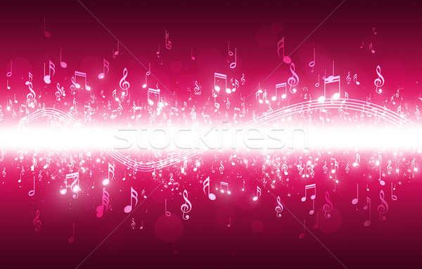 Hangjegyek sötét fények bokeh zene absztrakt Stock fotó © alexaldo