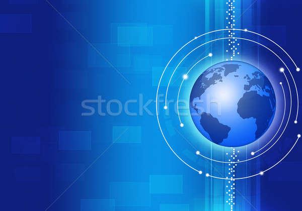 Technology Business Blue Background Stock photo © alexaldo
