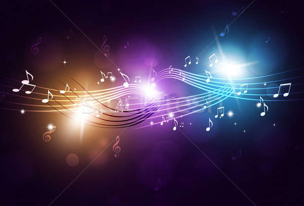 Music Notes Party Background Stock photo © alexaldo