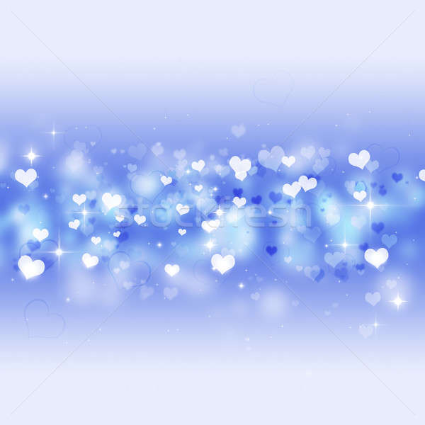 Bright Blue Valentine Card Stock photo © alexaldo
