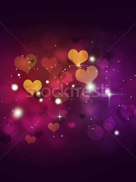 Stock photo: Multicolor Blurry Hearts
