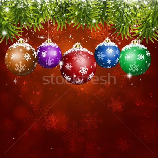 Rood vakantie christmas wenskaart ny Stockfoto © alexaldo