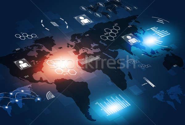 Concept Communications Technology Background Stock photo © alexaldo