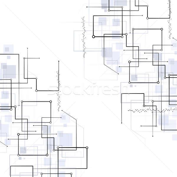 Streszczenie geometryczny technologii linie światła czarno białe Zdjęcia stock © alexaldo