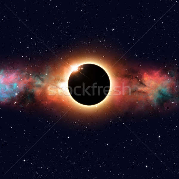 űr fogyatkozás képzeletbeli nap mély nap Stock fotó © alexaldo
