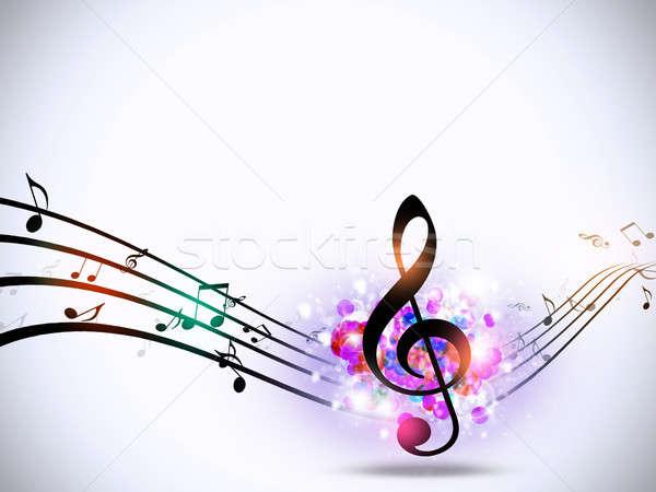 Muzyki zauważa jasne funky streszczenie muzyki strony Zdjęcia stock © alexaldo