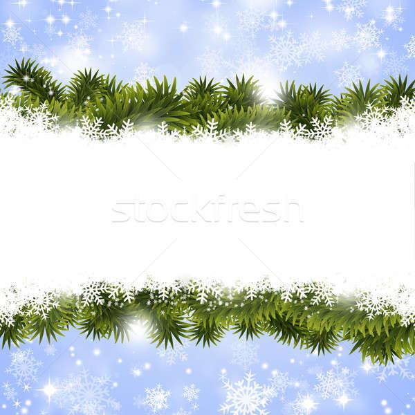 рождество зима аннотация снега Сток-фото © alexaldo