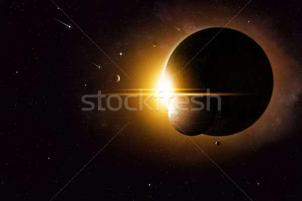 пространстве аннотация мнимый глубокий затмение иллюстрация Сток-фото © alexaldo