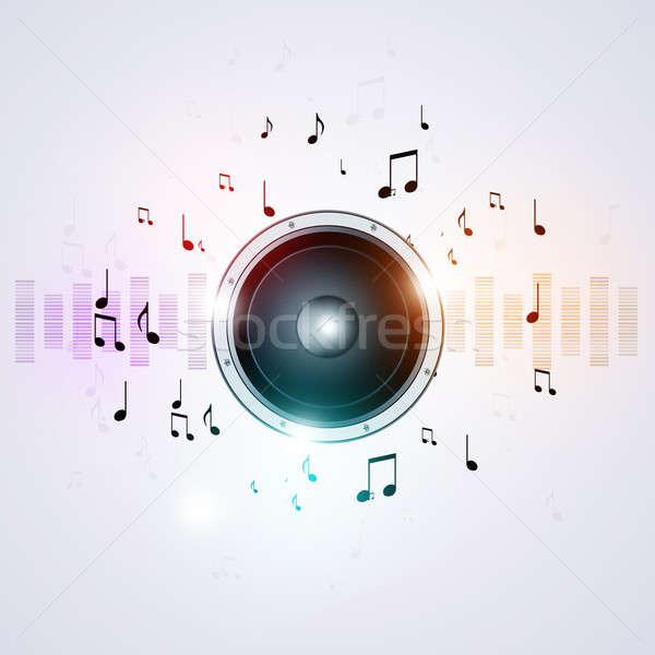 Sound Speaker Music Background Stock photo © alexaldo