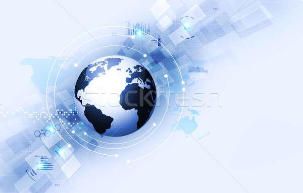 технологий аннотация синий интерфейс веб Сток-фото © alexaldo