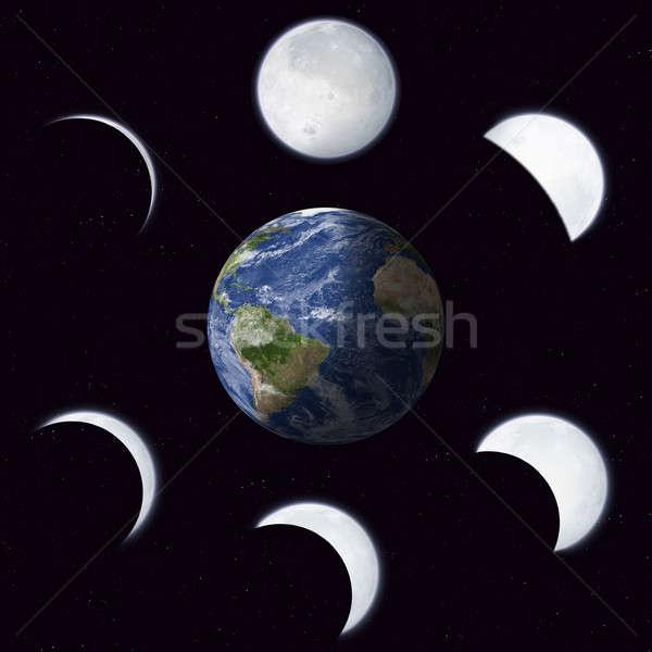 Moon Phases Calendar Stock photo © alexaldo