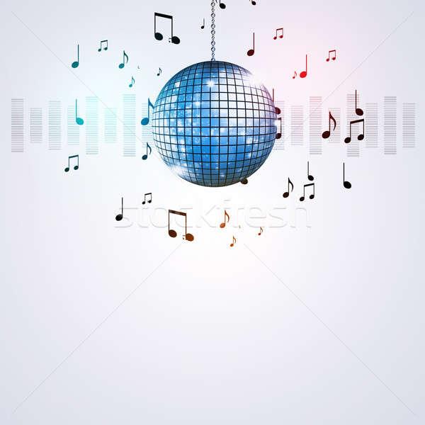 Zene labda buli hangszínszabályozó aktív események Stock fotó © alexaldo