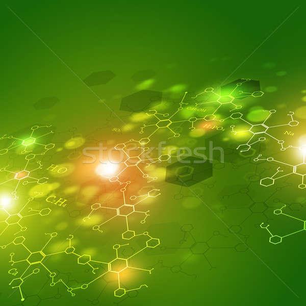 Tudomány absztrakt zöld technológia kémia elemek Stock fotó © alexaldo