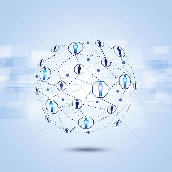 Network Global Communications  Stock photo © alexaldo
