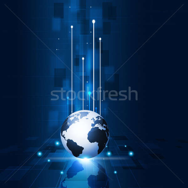 üzlet absztrakt technológia kommunikáció számítógép internet Stock fotó © alexaldo