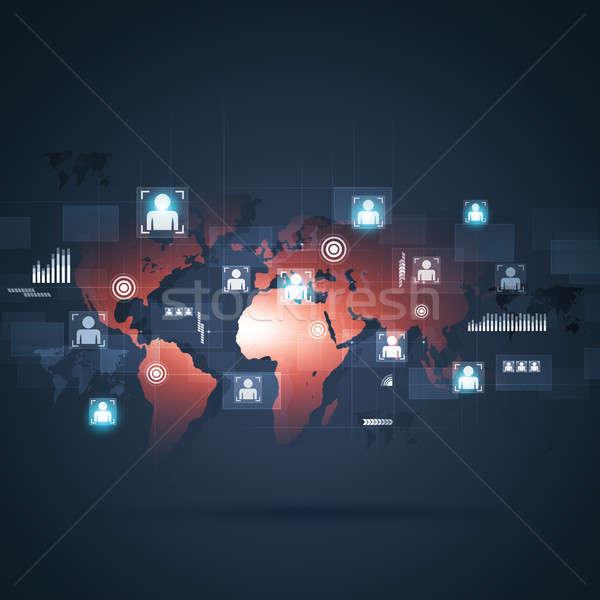 Global web Interface Concept Background Stock photo © alexaldo