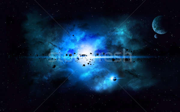 Blue Deep Space Imaginary Nebula Stock photo © alexaldo