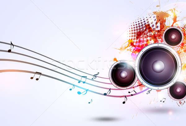 Müzik korkak parlak ses konuşmacı notlar Stok fotoğraf © alexaldo