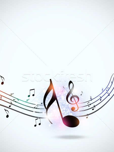 Multicolor Music Funky Notes Stock photo © alexaldo