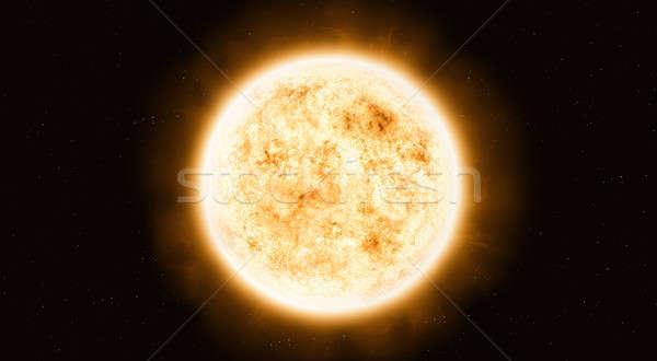 Sistema solar estrela sol elementos imagem espaço Foto stock © alexaldo