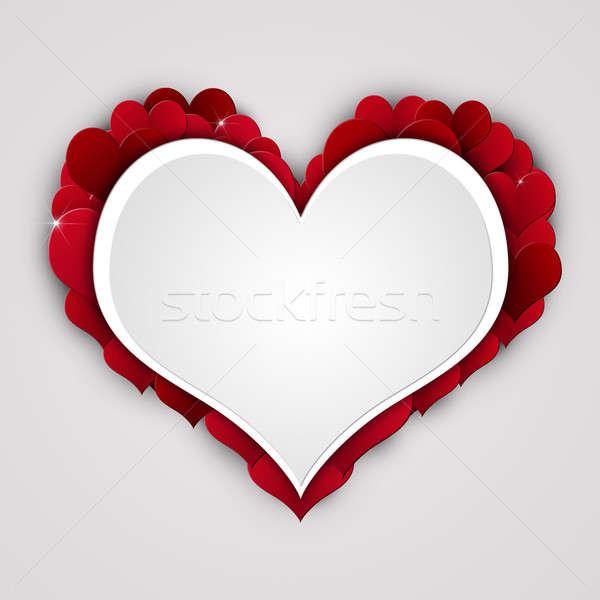 Валентин праздник аннотация красный сердцах подарок Сток-фото © alexaldo