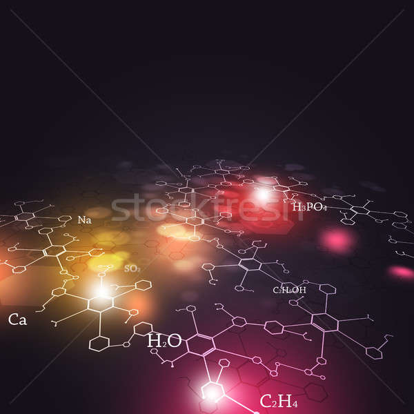 Soyut kimyasal teknoloji bilim kimya elemanları Stok fotoğraf © alexaldo