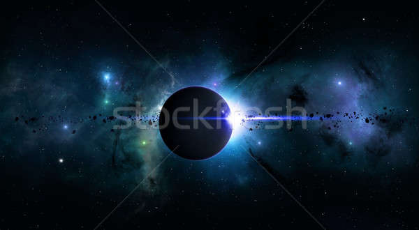 Bright Space Planet Eclipse Stock photo © alexaldo