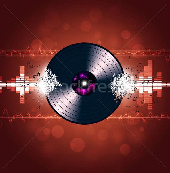 Vinyl Music Waves Background Stock photo © alexaldo