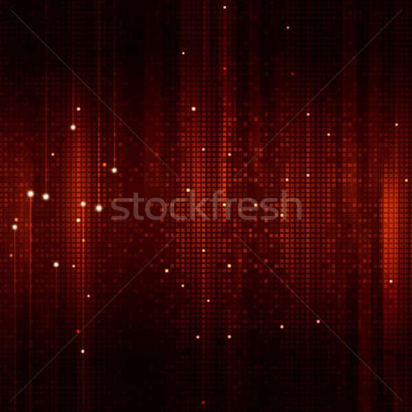 Square Shapes Red Background Stock photo © alexaldo