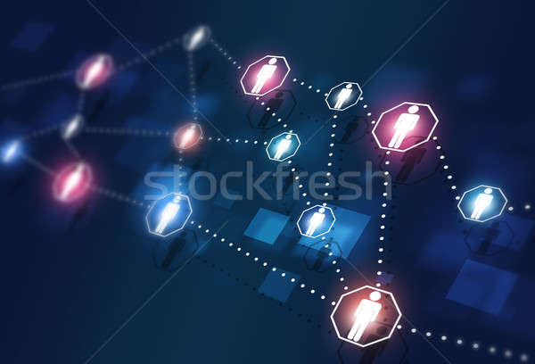 Web Global Connections Stock photo © alexaldo