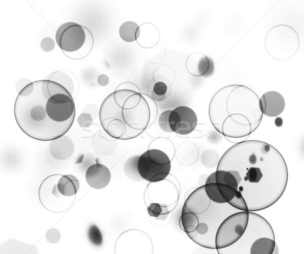Bokeh черно белые фары аннотация весело мяча Сток-фото © alexaldo